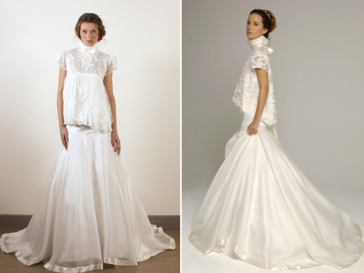 Celebrity inspired wedding dresses with long lace sleeves for Famous wedding dress designers