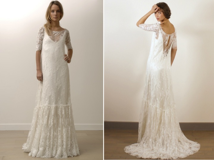 Modified A Line Lace Wedding Dresses By Lily Allen S Dress Designer