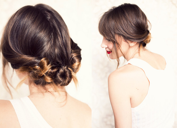 Wedding Hairstyle How To Chic Low Chignon Boho Brides Casual Wedding