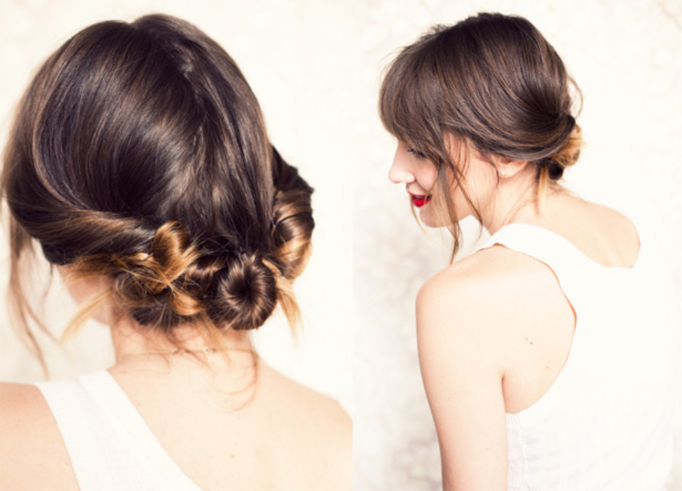 Chic Low Chignon DIY Wedding Hairstyle Get The Look In Minutes - Bridesmaid hairstyle diy