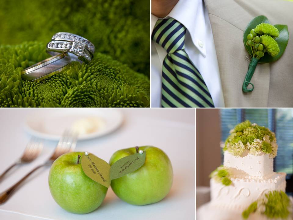 Apple Themed Florida Wedding And Dazzling Diamond Engagement Ring Photos