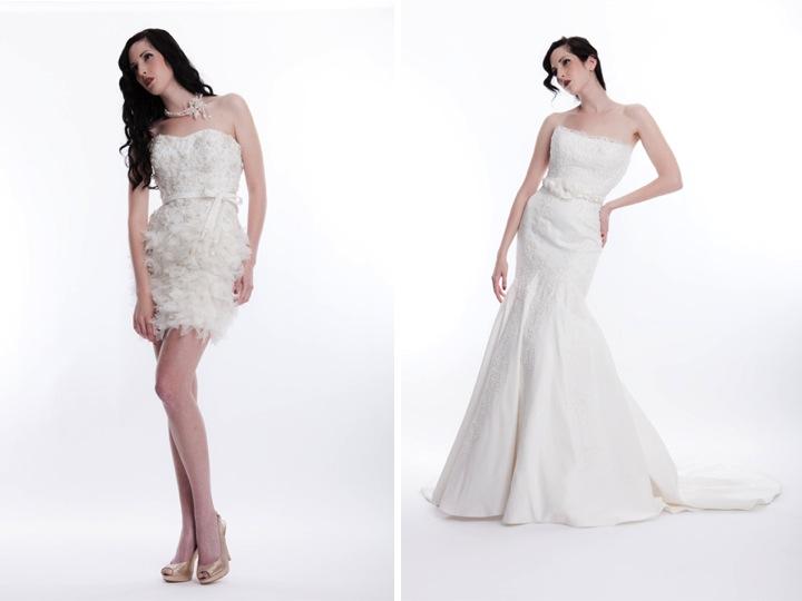 Short Ivory Wedding Reception Dress Embellished With Feathers And Beading O