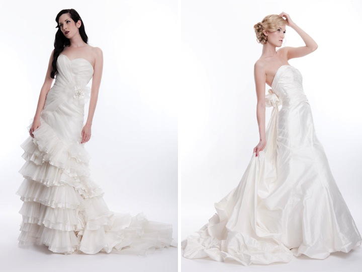 Vintage Style Wedding Dresses Houston : Couture wedding dresses sarah houston bridal gown ivory a line