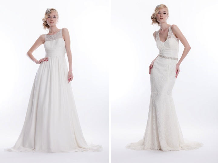 Vintage-inspired ivory strapless mermaid wedding dress with ...