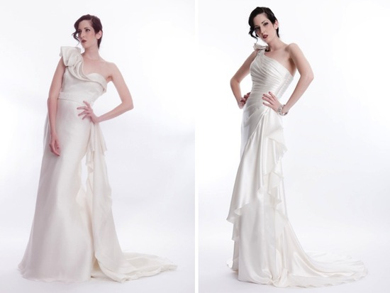 Classic a-line and modern mermaid wedding dresses with illusion necklines