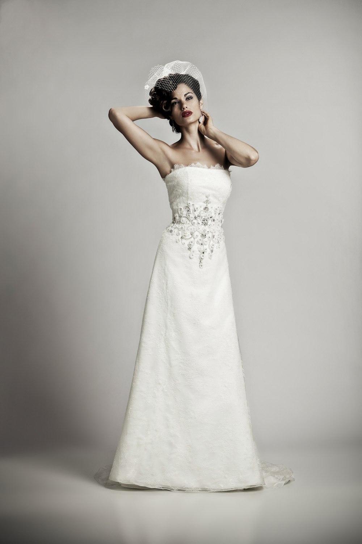 Wedding Dresses Modified A Line : Lourdes wedding dress romantic lace modified a line bridal gown
