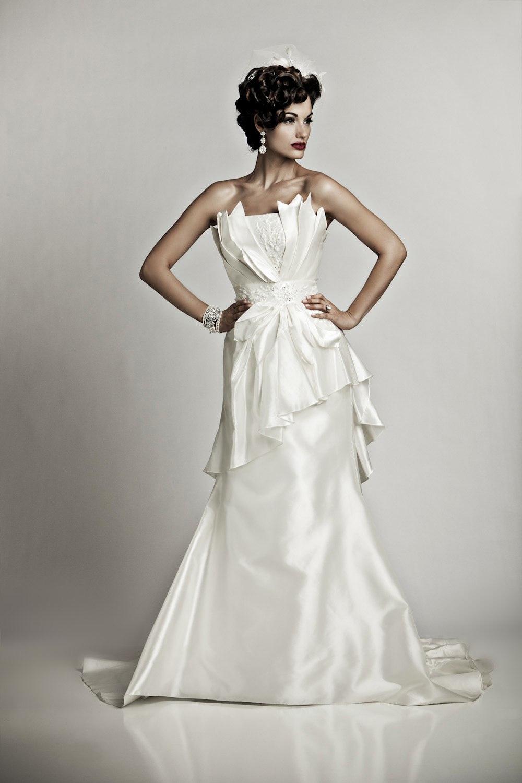 Ivory-delphine-wedding-dress-artistic-mermaid-cinched-waist-vintage-bridal-style.full