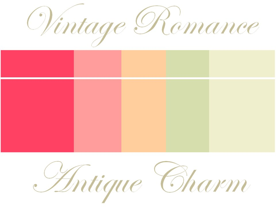 Vintage Wedding Color Palette Of Soft Peaches And Pinks Taupe Sage Coral