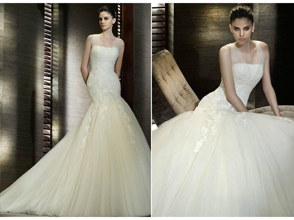 Illusion-neckline-wedding-dress-san-patrick-bridal-gown.full