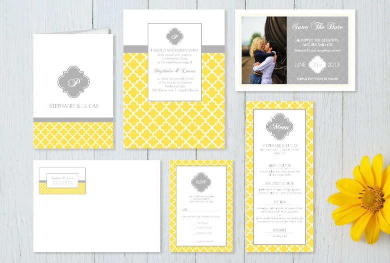 yellowgrayweddinginvitationset