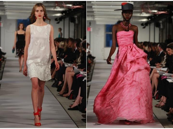 Little-white-dress-oscar-de-la-renta-wedding-dress-ideas-pink-bridal-ball-gown.full