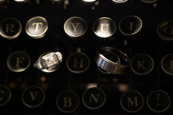 photo of Wedding ring shot on typewriter