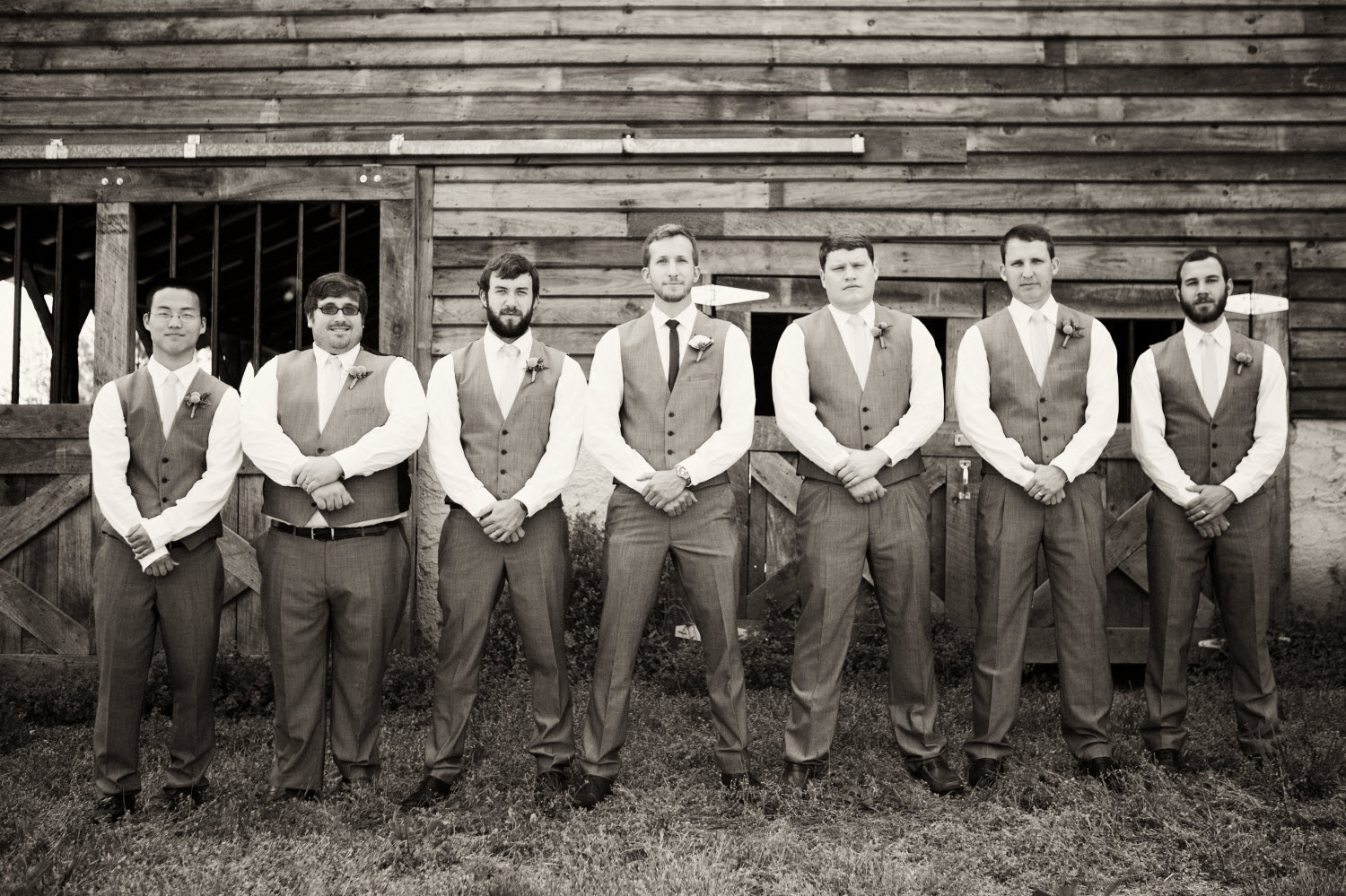 Outdoor Rustic Wedding In Tennessee With Dapperly Dressed