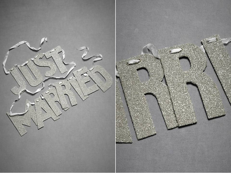 Just-married-metallic-silver-sparkly-wedding-sign-bhldn-wedding-reception-decor-wedding-blogs.full
