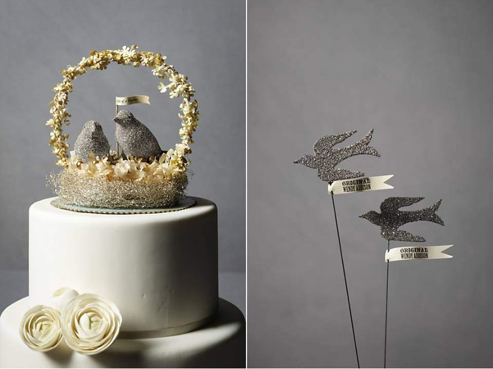 Silver-metallic-wedding-cake-topper-love-birds-bhldn-wedding-reception-decor.full