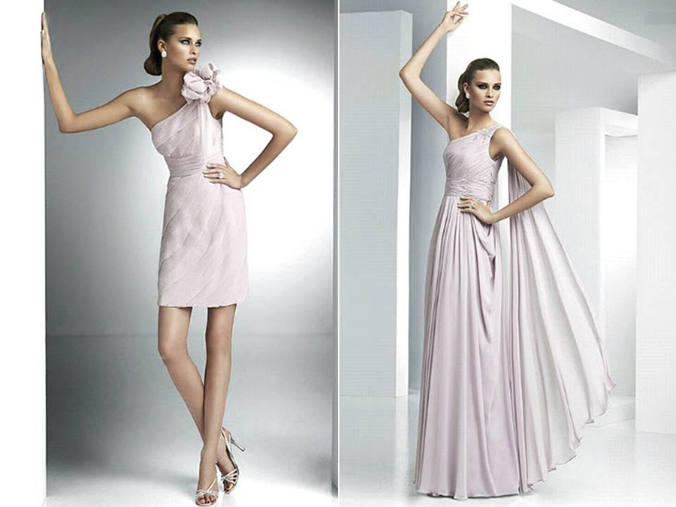 One Shoulder Grecian Prom Dresses Elegant Pronovias one-shoulder