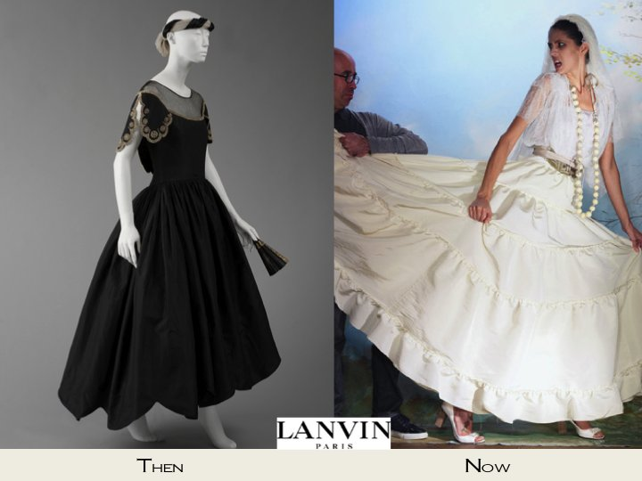 Chic Lanvin couture wedding dresses and a black Lanvin ball gown