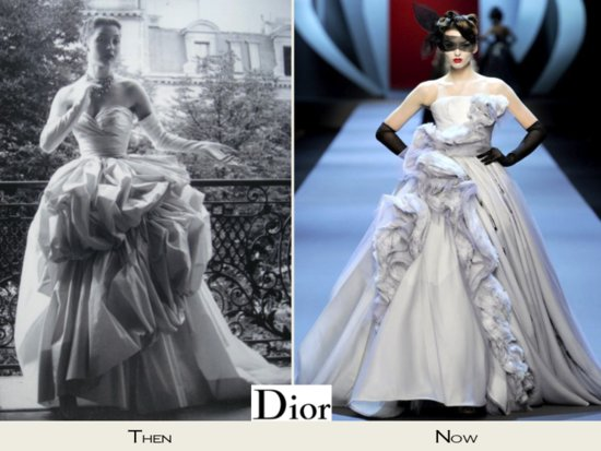 Dramatic ball gown wedding dresses by Christian Dior