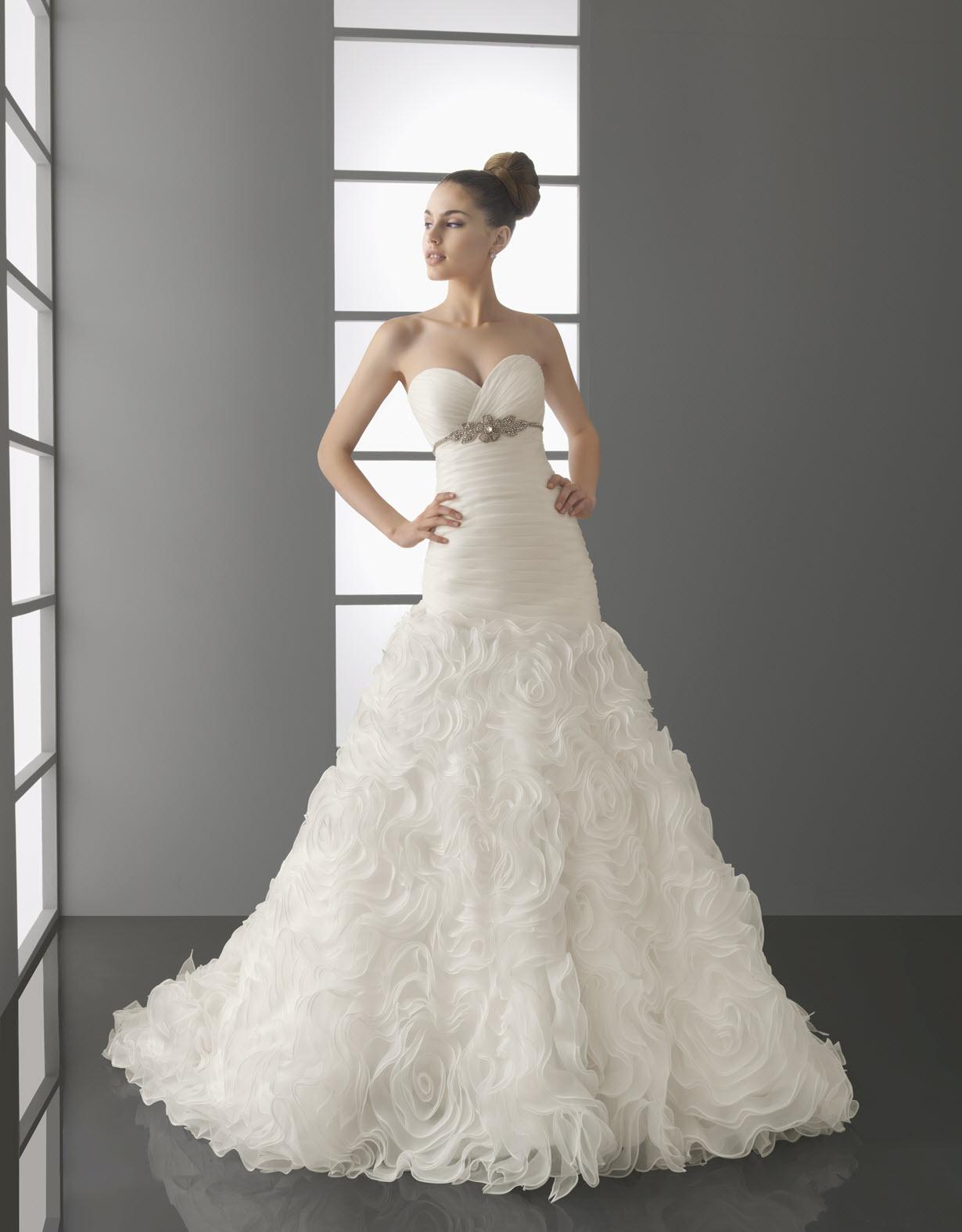 paris wedding dress aire barcelona spring 2012 bridal gown