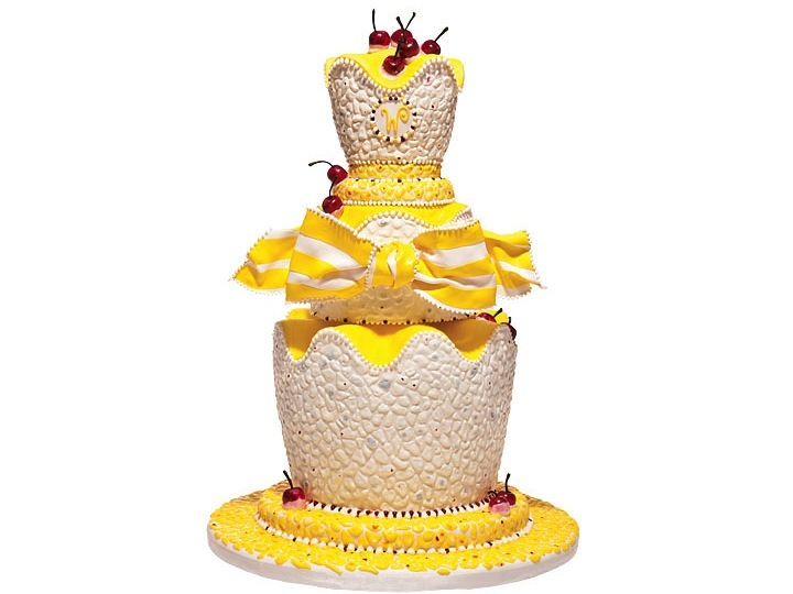 Make a statement with this ivory, yellow and red cherry-adorned ...