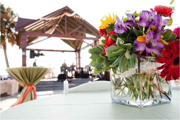 Outdoor-real-wedding-colorful-wedding-flowers-centerpieces-reception.full