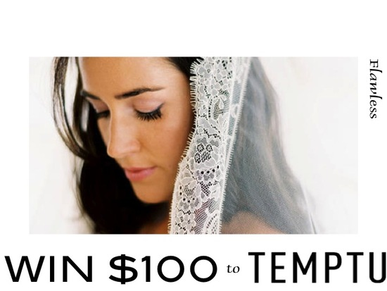 WIN $100 gift card for airbrush bridal makeup and tan from Temptu