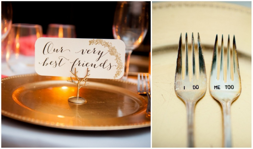 Cute customized place setting ideas for the reception