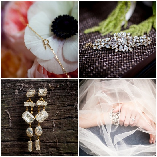Bride and bridesmaids jewelry