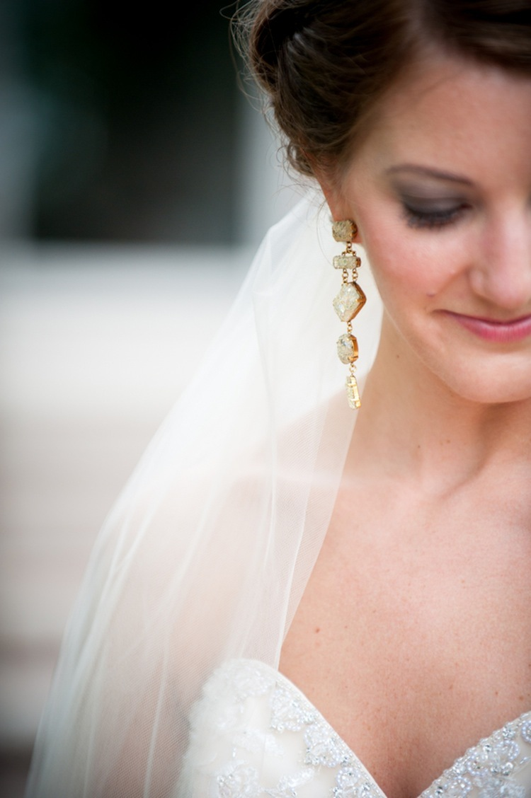 Bridal beauty with earrings