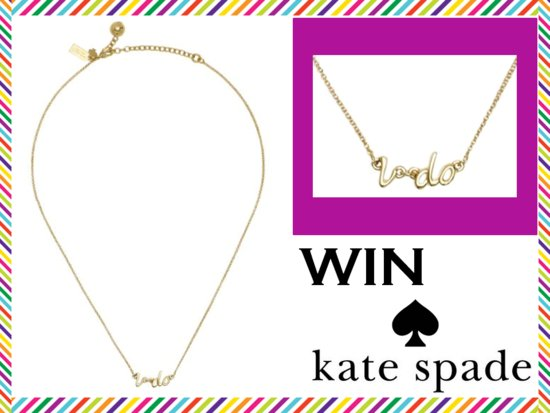 photo of Weekly Giveaway Winner: Kate Spade I Do Necklace
