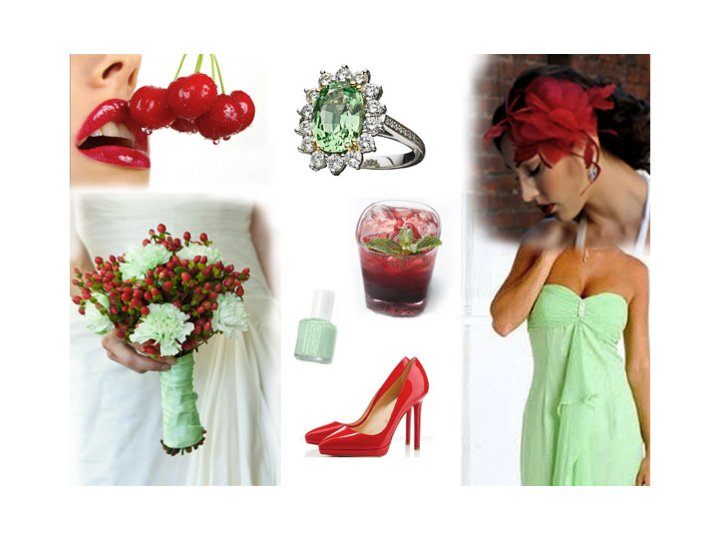 Mint Green And Bright Cherry Wedding Color Palette For Your Summer
