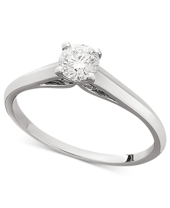 photo of White Gold Solitaire Engagement Ring IU1053CWA1