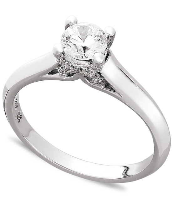 White Gold Solitaire Engagement Ring IE1373CWA1