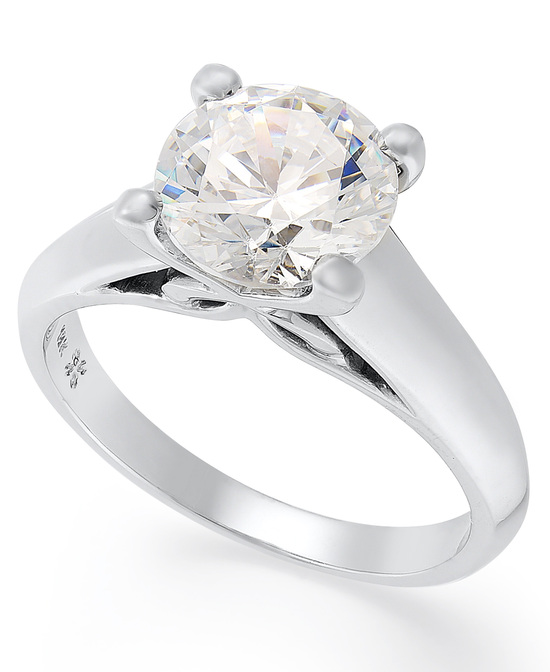 White Gold Solitaire Engagement Ring IU1059CWA1