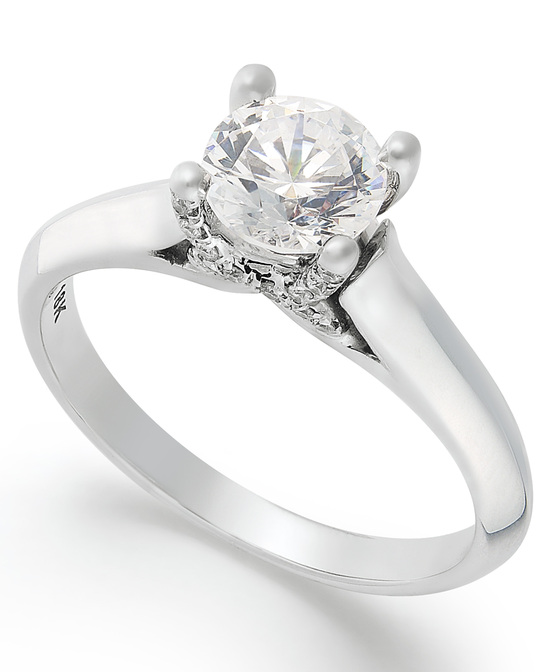 photo of White Gold Solitaire Engagement Ring IE1375CWA1