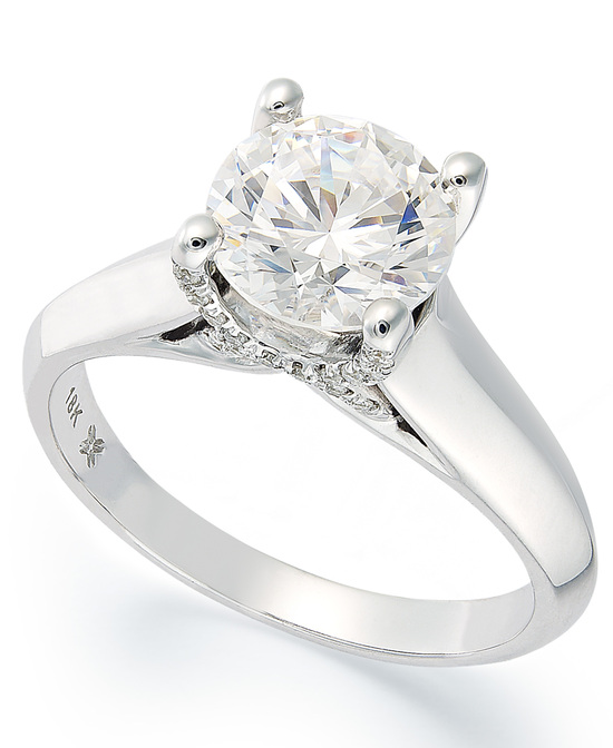 White Gold Solitaire Engagement Ring IE1377CWA1