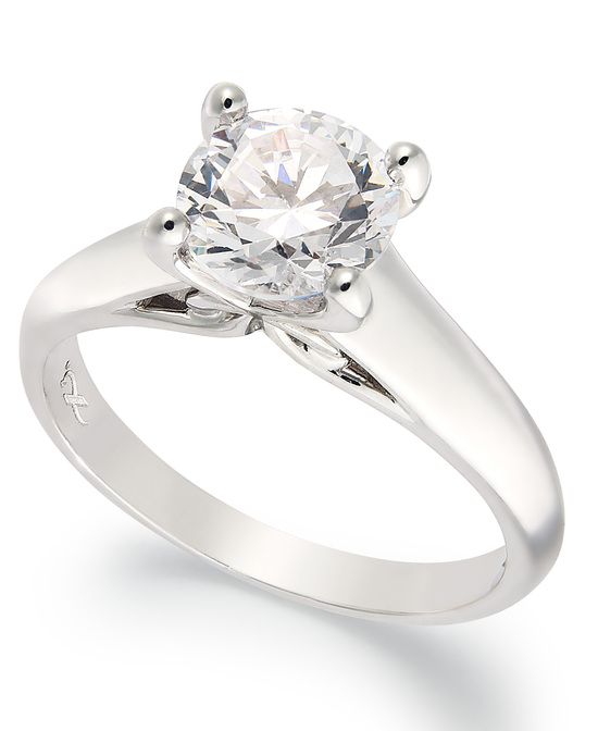 White Gold Solitaire Engagement Ring IU1055CWA1