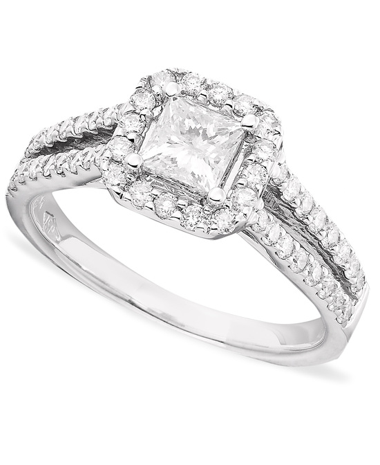 White Gold Multiple Stones Engagement Ring ISR1133TQ CTR