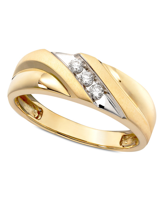 photo of Yellow Gold Multiple Stones Wedding Ring GW5443C-FYRN5-00