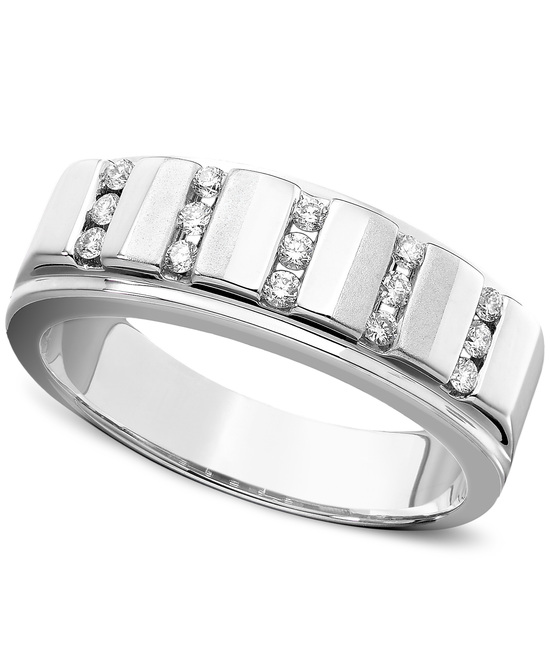 White Gold Multiple Stones Wedding Ring UMF1253WR5J
