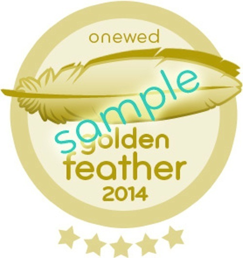 2014 golden feather sample badge