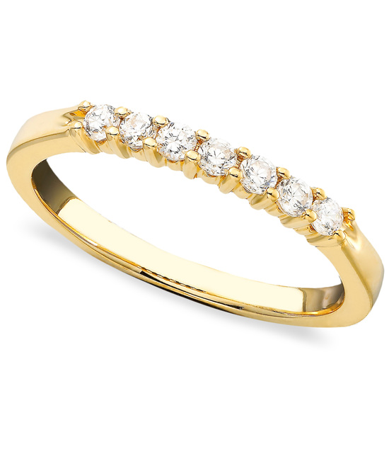 Yellow Gold Multiple Stones Wedding Ring BP7ST25Y