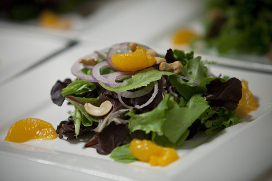 Organic Greens, Madarin Oranges, Cashew Salad