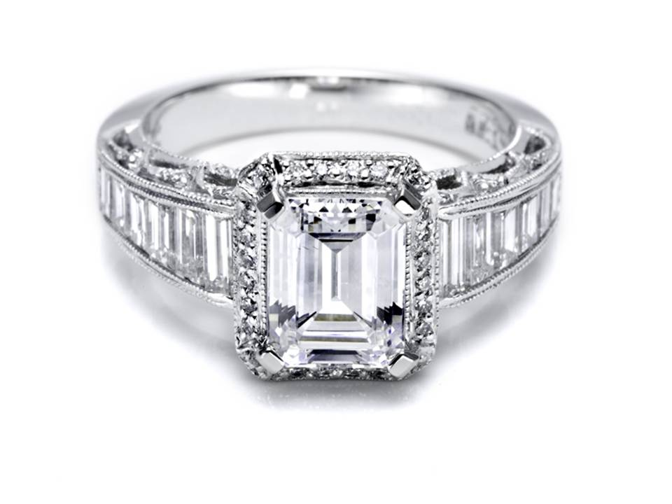 Tacori engagement rings emerald cut