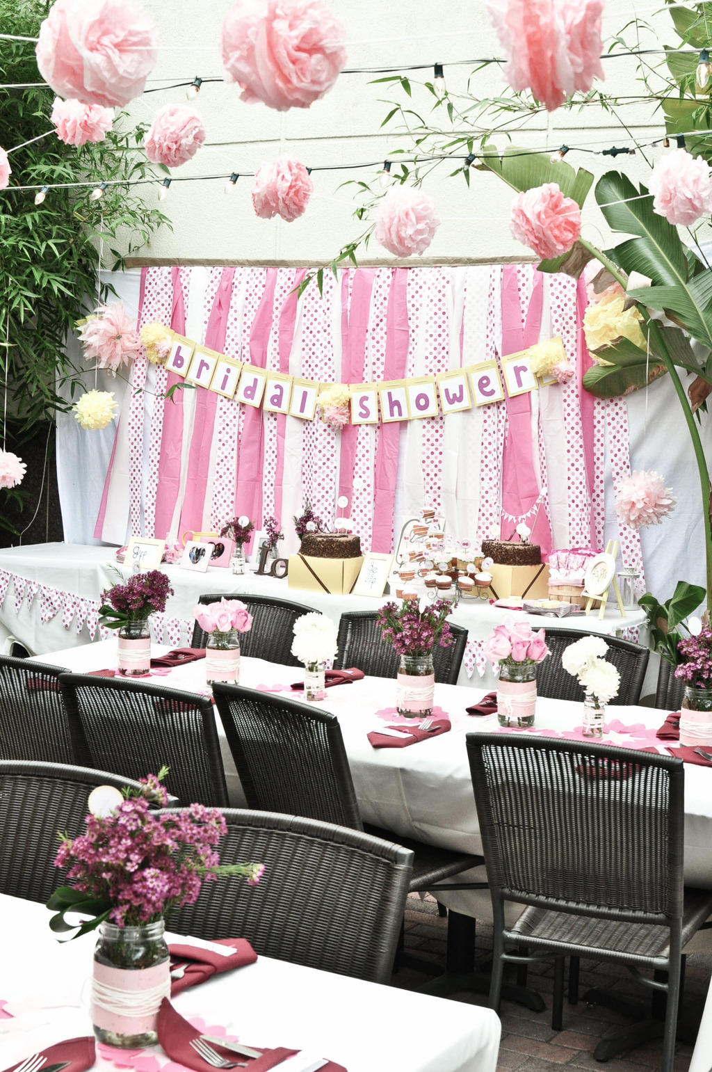 pink white and polka dot hello kitty bridal shower in california