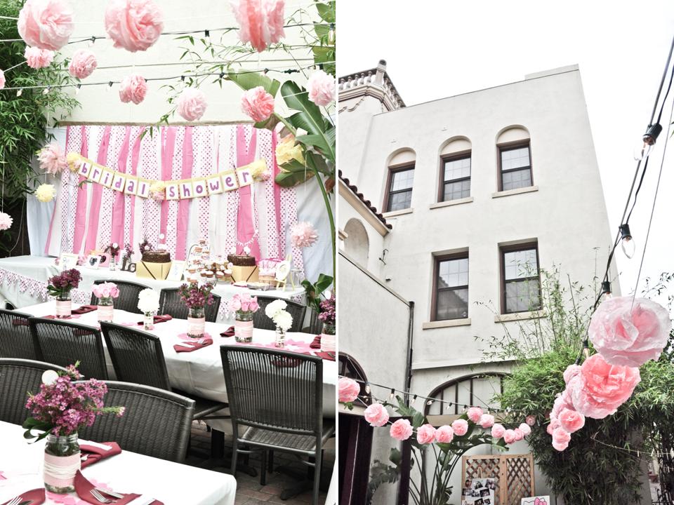 Outdoor Wedding Shower Ideas Part - 39: Light Pink Bridal Shower Ideas : Bridal Shower Cute Hello Kitty Theme Girly  Bride Wedding Ideas