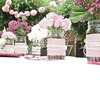 Wedding-flower-centerpieces-pink-roses-wax-flowers-mums-garden-bridal-shower.square