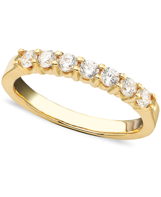 Yellow Gold Multiple Stones Wedding Ring BP7ST50Y