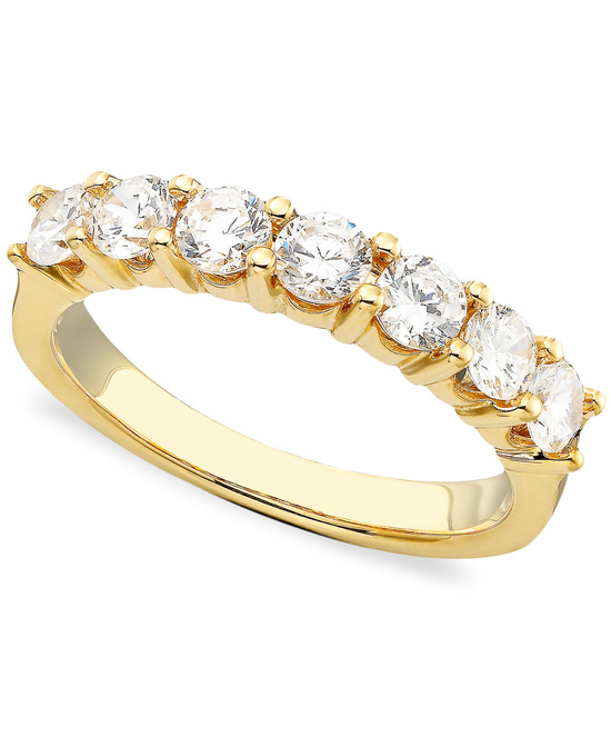 Yellow Gold Multiple Stones Wedding Ring BP7ST100Y
