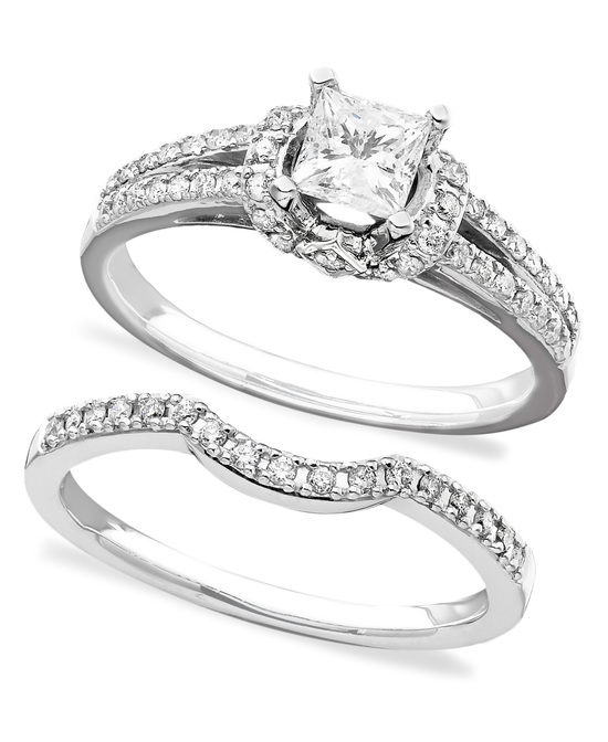 photo of White Gold With Matching Bands Engagement Ring ISR2905TQ